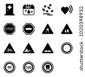 solid vector icon set   first... | Shutterstock .eps vector #1020398932