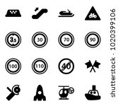 solid vector icon set   taxi...   Shutterstock .eps vector #1020399106