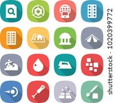 flat vector icon set   search... | Shutterstock .eps vector #1020399772