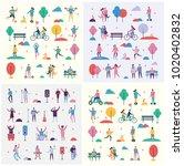 set of vector backgrounds in... | Shutterstock .eps vector #1020402832