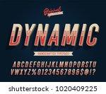 """dynamic"" blue vintage 3d... | Shutterstock .eps vector #1020409225"