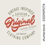 original vintage textured hand... | Shutterstock .eps vector #1020409276