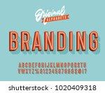"""branding"" vintage 3d premium... | Shutterstock .eps vector #1020409318"