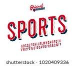"""sports"" vintage 3d stylish... | Shutterstock .eps vector #1020409336"