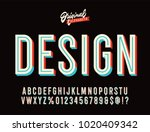 """design"" vintage 3d inline... | Shutterstock .eps vector #1020409342"