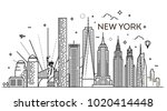 New York City Skyline  Vector...