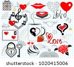 vector illustration. collage... | Shutterstock .eps vector #1020415006