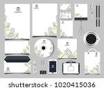 corporate identity business set | Shutterstock .eps vector #1020415036