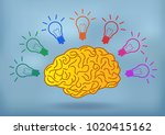 open mind illustration creative ... | Shutterstock .eps vector #1020415162
