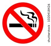 no smoking  sign. forbidden... | Shutterstock .eps vector #1020418426