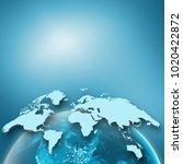 earth from space. best internet ... | Shutterstock . vector #1020422872
