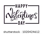 happy valentine's day card ... | Shutterstock .eps vector #1020424612