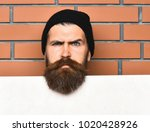 bearded man  long beard. brutal ... | Shutterstock . vector #1020428926