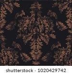 baroque damask pattern vector.... | Shutterstock .eps vector #1020429742