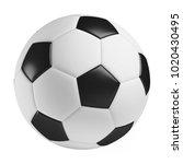 soccer ball  3d rendered... | Shutterstock . vector #1020430495