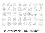 vector graphic set. editable... | Shutterstock .eps vector #1020433042