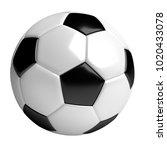 soccer ball  3d rendered...   Shutterstock . vector #1020433078