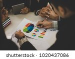 a group of business men and... | Shutterstock . vector #1020437086
