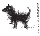 Dog Illustrated In A Doodle...