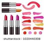 vector lipstick packaging... | Shutterstock .eps vector #1020440308