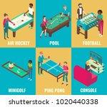 vector isometric games set. air ... | Shutterstock .eps vector #1020440338