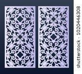 ornamental panels template for... | Shutterstock .eps vector #1020446308