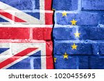 brexit  flags of the united... | Shutterstock . vector #1020455695