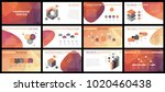 business presentation templates.... | Shutterstock .eps vector #1020460438