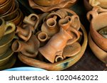 handicrafts in clay  handmade... | Shutterstock . vector #1020462022