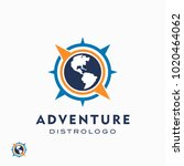 world adventure and expedition... | Shutterstock .eps vector #1020464062