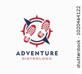 world adventure and expedition... | Shutterstock .eps vector #1020464122