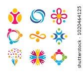 community and unity logo set... | Shutterstock .eps vector #1020464125