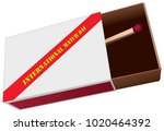 box for matches with one match... | Shutterstock .eps vector #1020464392