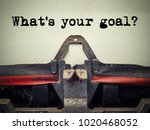 what's your goal vintage... | Shutterstock . vector #1020468052