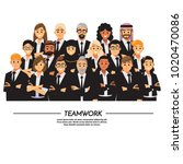 business people teamwork ... | Shutterstock .eps vector #1020470086