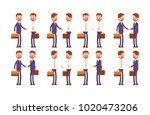 handshakes in a suit and shirt. ... | Shutterstock .eps vector #1020473206