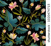 seamless pattern with beautiful ... | Shutterstock .eps vector #1020474715