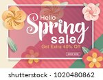 spring sale design with... | Shutterstock .eps vector #1020480862