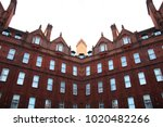 red brick building in the city...   Shutterstock . vector #1020482266