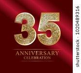 35 years anniversary... | Shutterstock .eps vector #1020489316