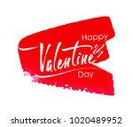 happy valentine's day ... | Shutterstock .eps vector #1020489952
