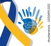 world down syndrome day painted ... | Shutterstock .eps vector #1020491332