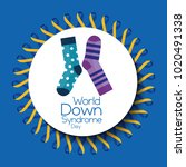 world down syndrome day banner... | Shutterstock .eps vector #1020491338