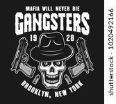 mafia vector emblem  label ... | Shutterstock .eps vector #1020492166