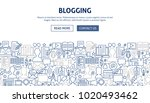 blogging banner design. vector... | Shutterstock .eps vector #1020493462