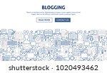 blogging banner design. vector...   Shutterstock .eps vector #1020493462