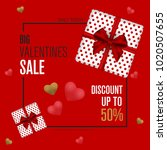 valentines day sale background. ... | Shutterstock .eps vector #1020507655