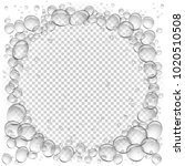 water bubbles circle frame... | Shutterstock .eps vector #1020510508