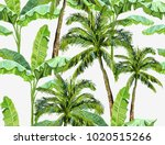 beautiful seamless vector... | Shutterstock .eps vector #1020515266