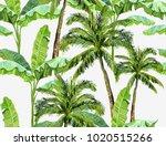 beautiful seamless vector... | Shutterstock .eps vector #1020515266